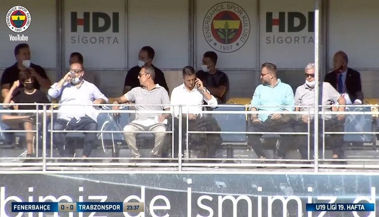Ali Koç ve Sırp menajer maçı izledi