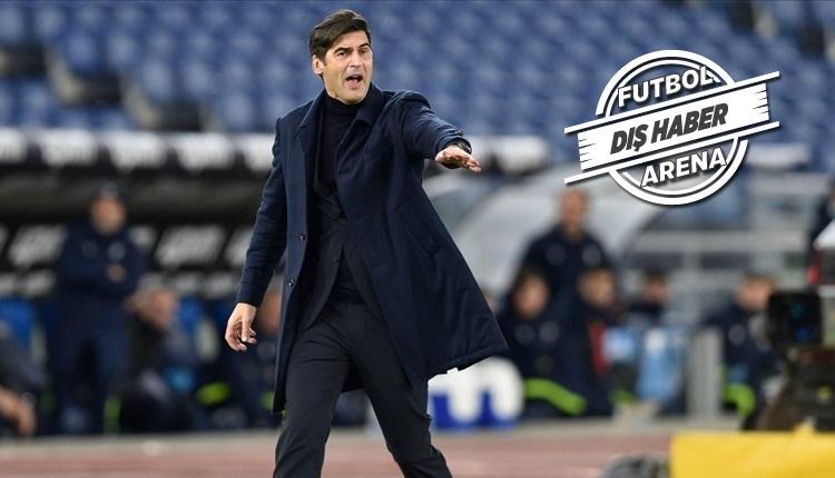 Teknik direktör Paulo Fonseca, Tottenham yolunda! Fenerbahçe...