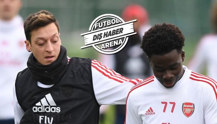 Mesut Özil'den Bukayo Saka'ya destek