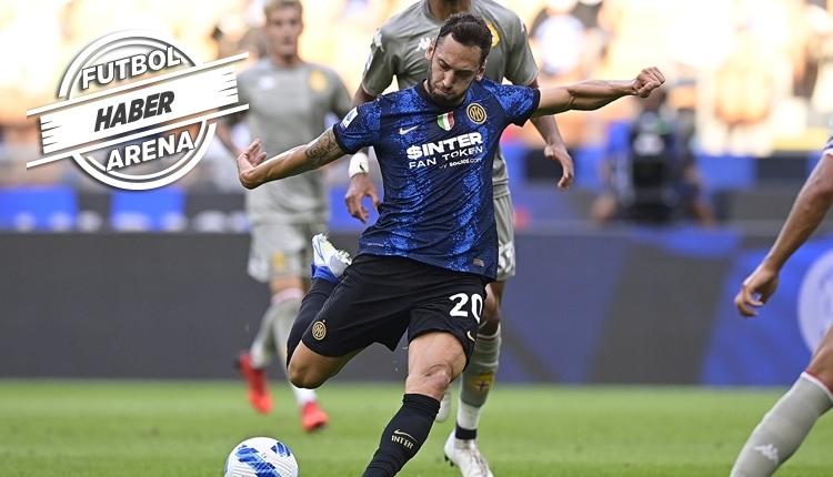 Hakan Çalhanoğlu'dan Inter ile ilk maçında 1 gol ve 1 asist (İZLE)