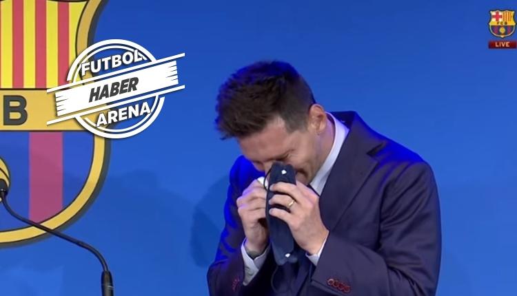 Messi ağlayarak Barcelona'ya veda etti! PSG sorusuna yanıt
