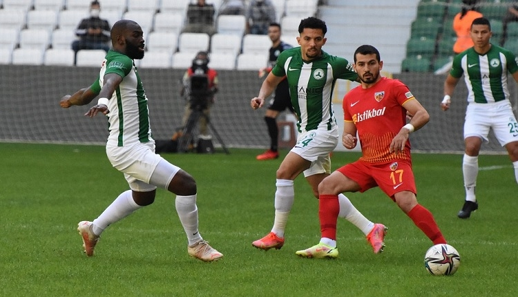 Giresunspor 1-1 Kayserispor maç özeti ve golleri İZLE