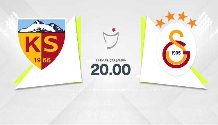 Kayserispor - Galatasaray ilk 11'ler