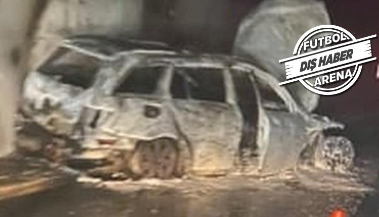 Maç sonu hakemin arabasını yaktılar!