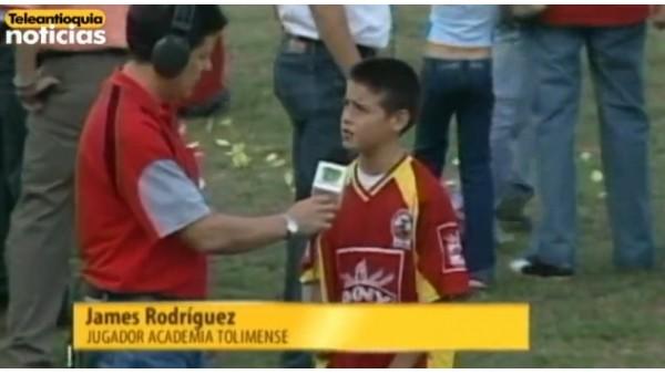 İşte 10 yaşındaki James Rodriguez