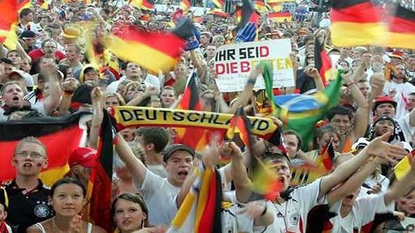 Almanya 2014 Dünya Kupası şampiyonluğunu kutluyor...