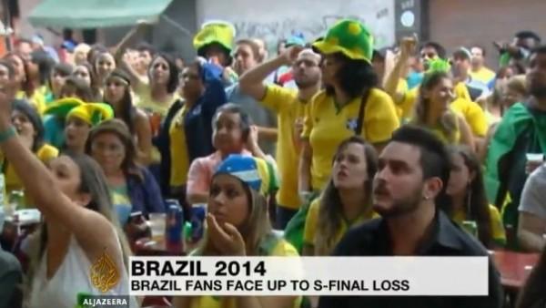 Brezilya taraftarları hezimeti böyle izledi