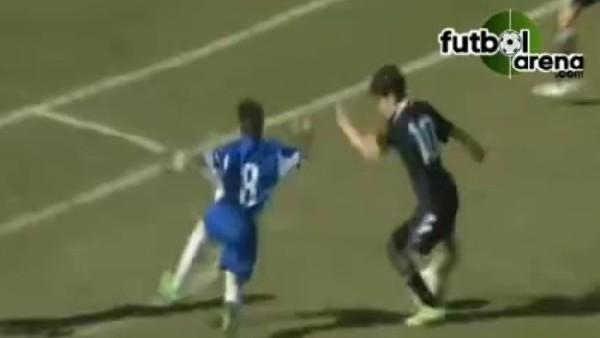 Zidane'ın oğlundan şık gol