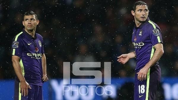 Lampard ile Agüero frikikte kapıştı!
