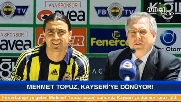 Mehmet Topuz, Kayseri'ye dönüyor
