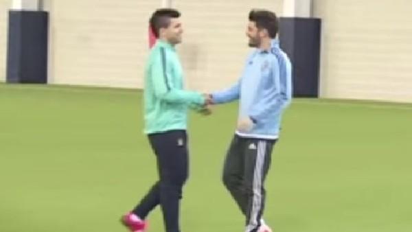 Aguero ve Villa kapıştı!