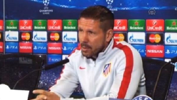 Diego Simeone: 'Tek hedefimiz maçı kazanmak'