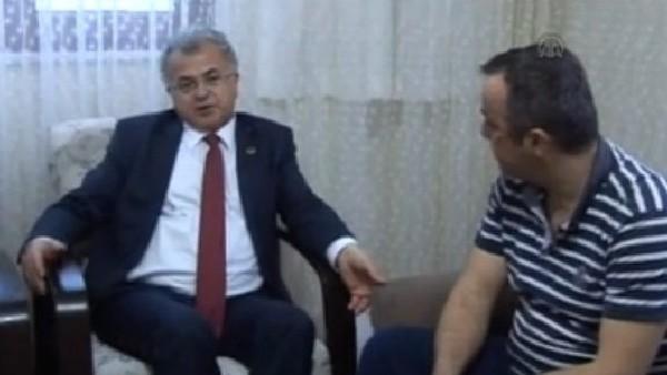 Başkan Kasap, şoför Kıran'ı evinde ziyaret etti