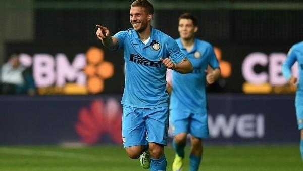 Podolski'den müthiş galibiyet golü