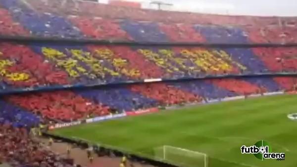 Barcelona taraftarlarından muhteşem şov