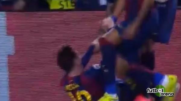 Messi golü attı, sevgilisi tribünde sevindi!
