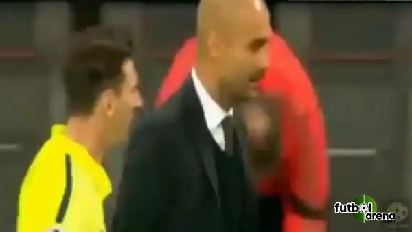 Pep ve Messi arasında ilginç an!