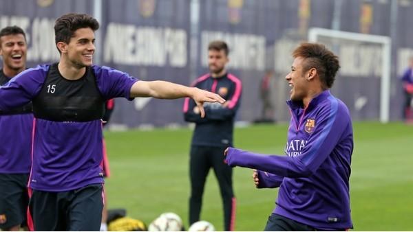 Barcelona'lı Futbolculardan Keyifli İdman
