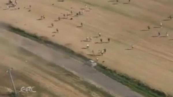 Kazayı helikopterden görüntülediler
