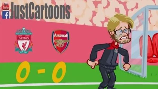 Liverpool - Arsenal maçı animasyon film oldu!