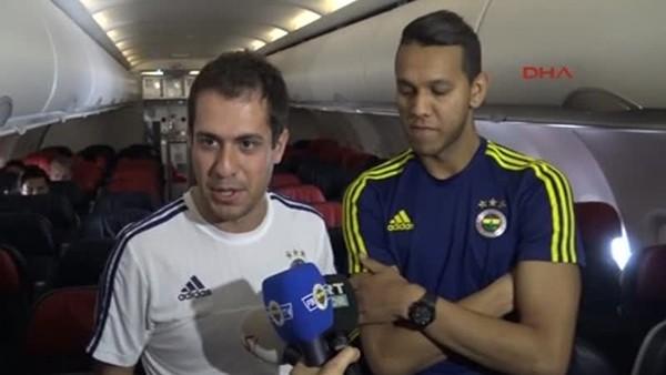 Fenerbahçeli futbolcular rakibi havada öğrendi