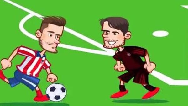 Atletico Madrid - Bayern Münih maçı animasyon oldu