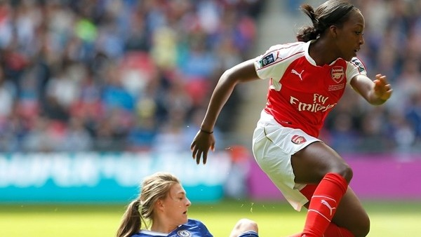 Arsenal'li kadın futbolcudan Chelsea'yi yıkan gol