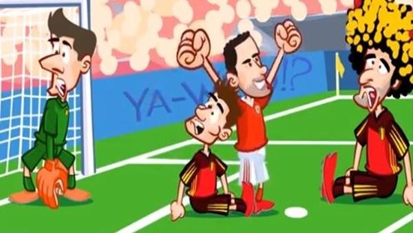 Galler - Belçika maçı animasyon film oldu