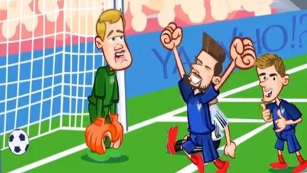 Almanya - Fransa maçı animasyon film oldu