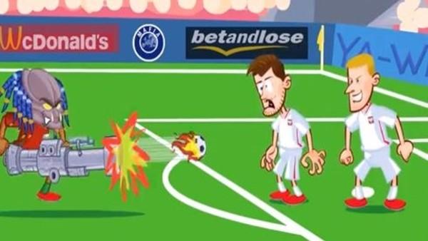 Polonya - Portekiz maçı animasyon film oldu