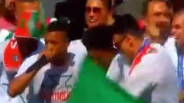 Portekiz kutlamalarına Nani'den beatbox şov