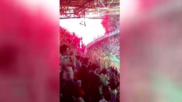 Dortmund taraftarı Lizbon'u yaktı