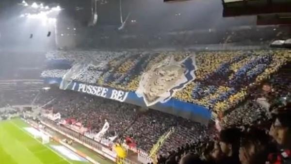Milan ve Inter taraftarları büyüledi