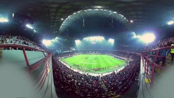 360 derecelik açıdan çekilmiş Milano derbisinin muhteşem atmosferi