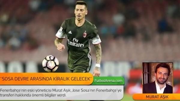 Murat Aşık: 'Jose Sosa devre arasında kiralık gelecek.'