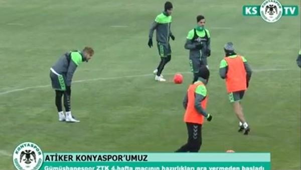Atiker Konyaspor'da Gümüşhanespor maçı hazırlıkları