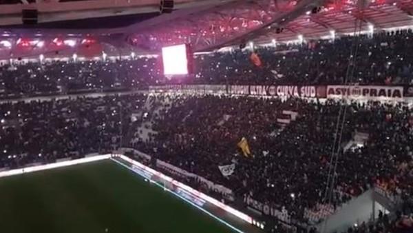 Juventus - Roma maçında muhteşem atmoster