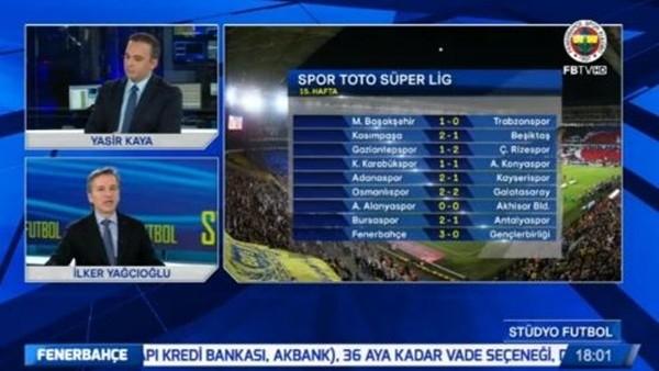 FB TV'de Beşiktaş'a hakem göndermesi