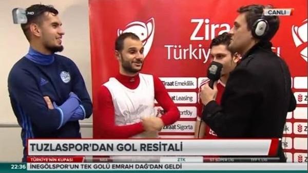 Tuzlasporlu oyuncular Galatasaray galibiyetini değerlendirdi