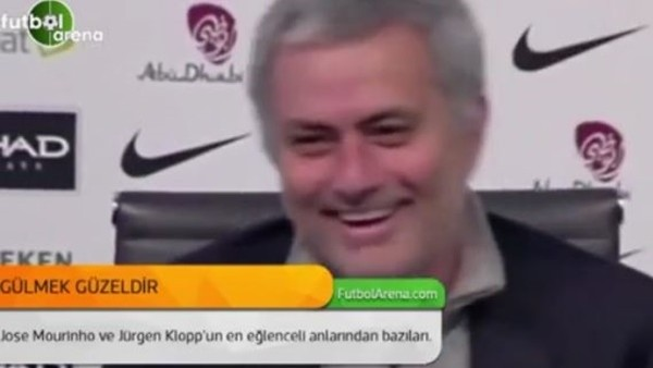 Mourinho ve Klopp'un eğlenceli anları
