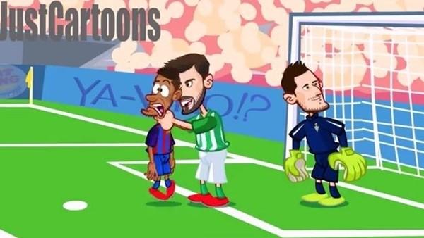 Real Betis - Barcelona maçı animasyon film oldu