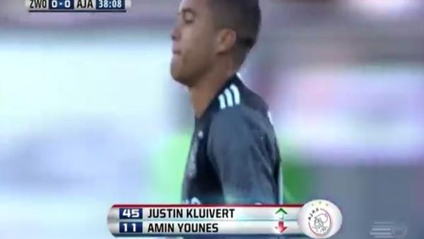 Kluivert'ın oğlu şov yaptı