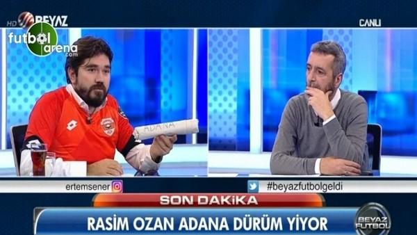 Rasim Ozan canlı yayına Adana dürüm ile çıktı
