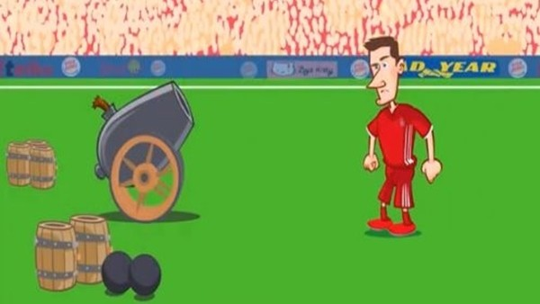 Bayern Münih - Arsenal maçı animasyon film oldu