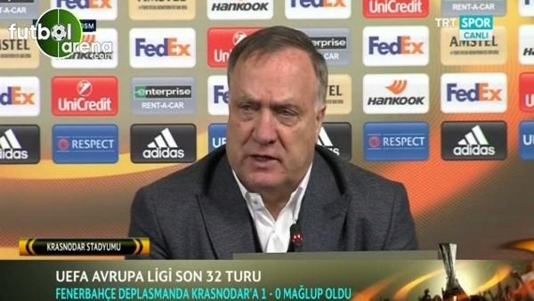 Dick Advocaat Krasnodar maçı sonrası futbolcularını suçladı