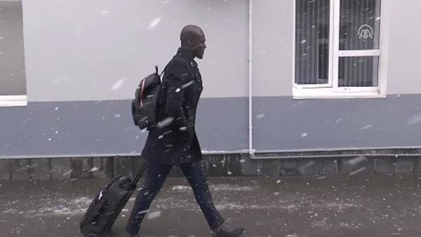 Fenerbahçe'yi Krasnodar'da karlı hava karşıladı