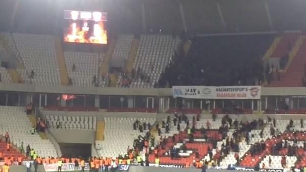 Gaziantep'te maç bitti olaylar başladı