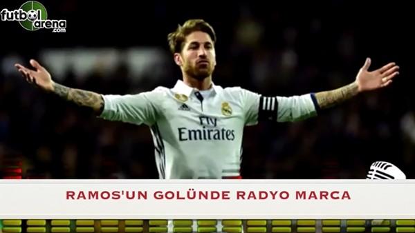 Sergio Ramos'un golünde kendinden geçen spiker