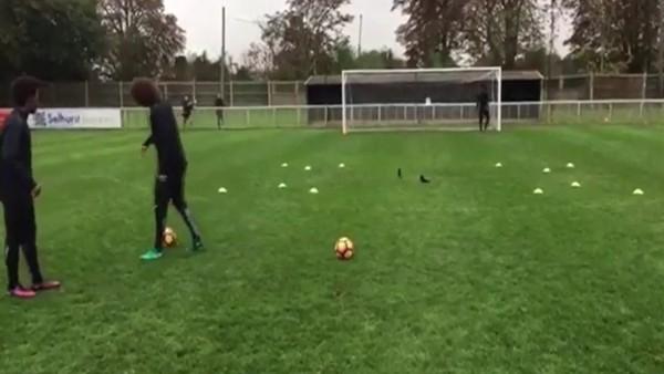 David Luiz böyle çalışıyor