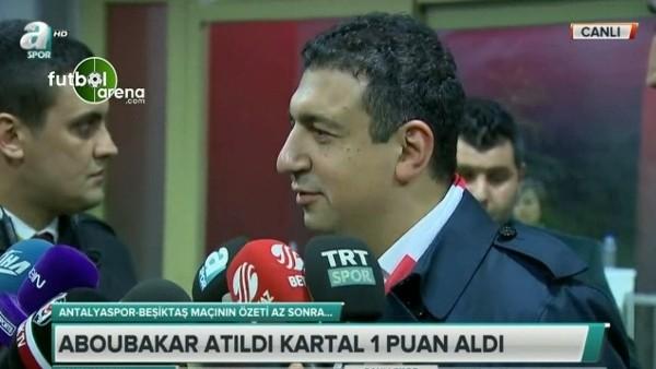 Antalyaspor Başkanı Ali Şafak Öztürk'ten Beşiktaş'a gönderme